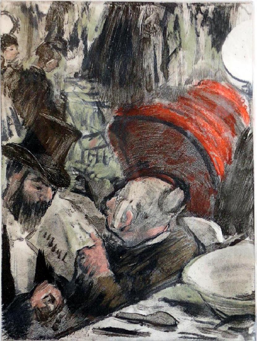Edgar Degas Ludovic Halevy et Madame Cardinal Ref: - 2