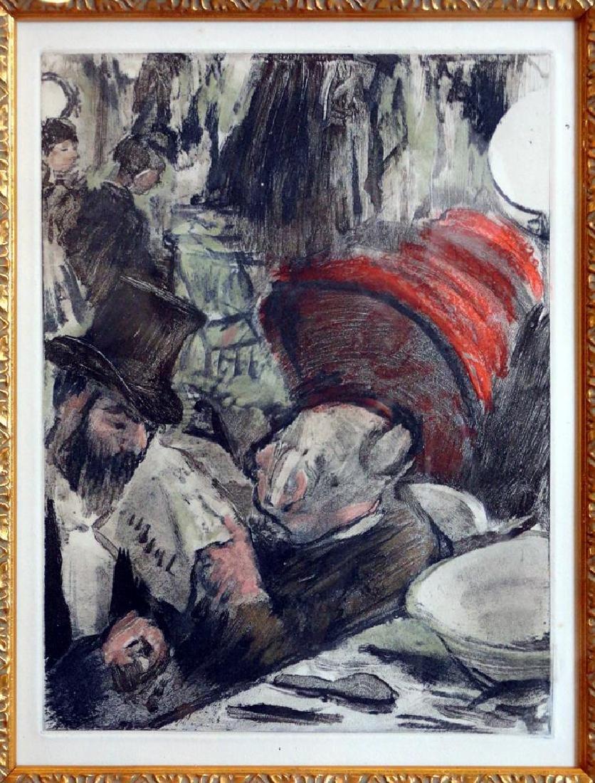 Edgar Degas Ludovic Halevy et Madame Cardinal Ref: - 3