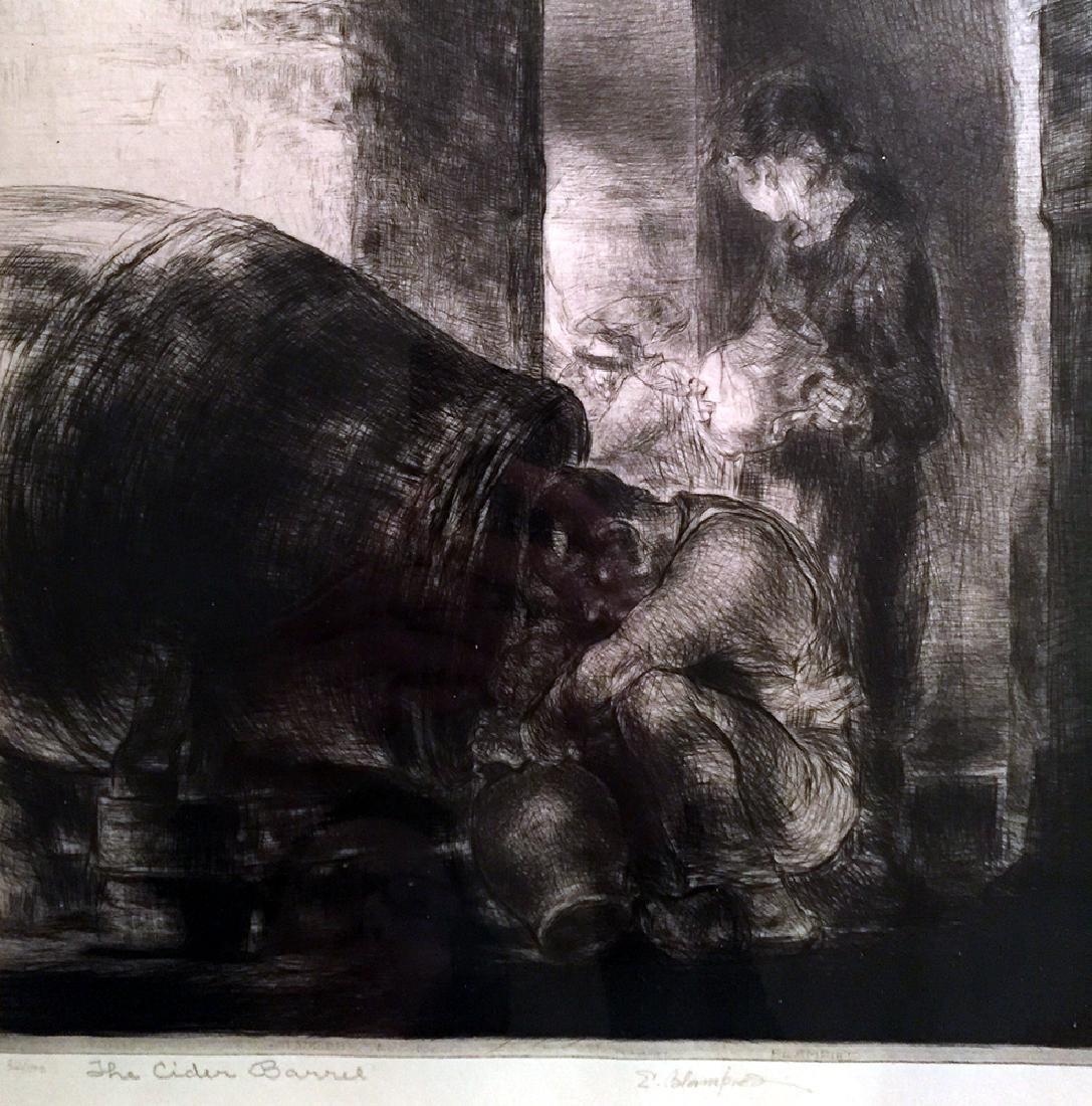 Edmund Blampied The Cider Barrel. 1928-29. Drypoint. - 4