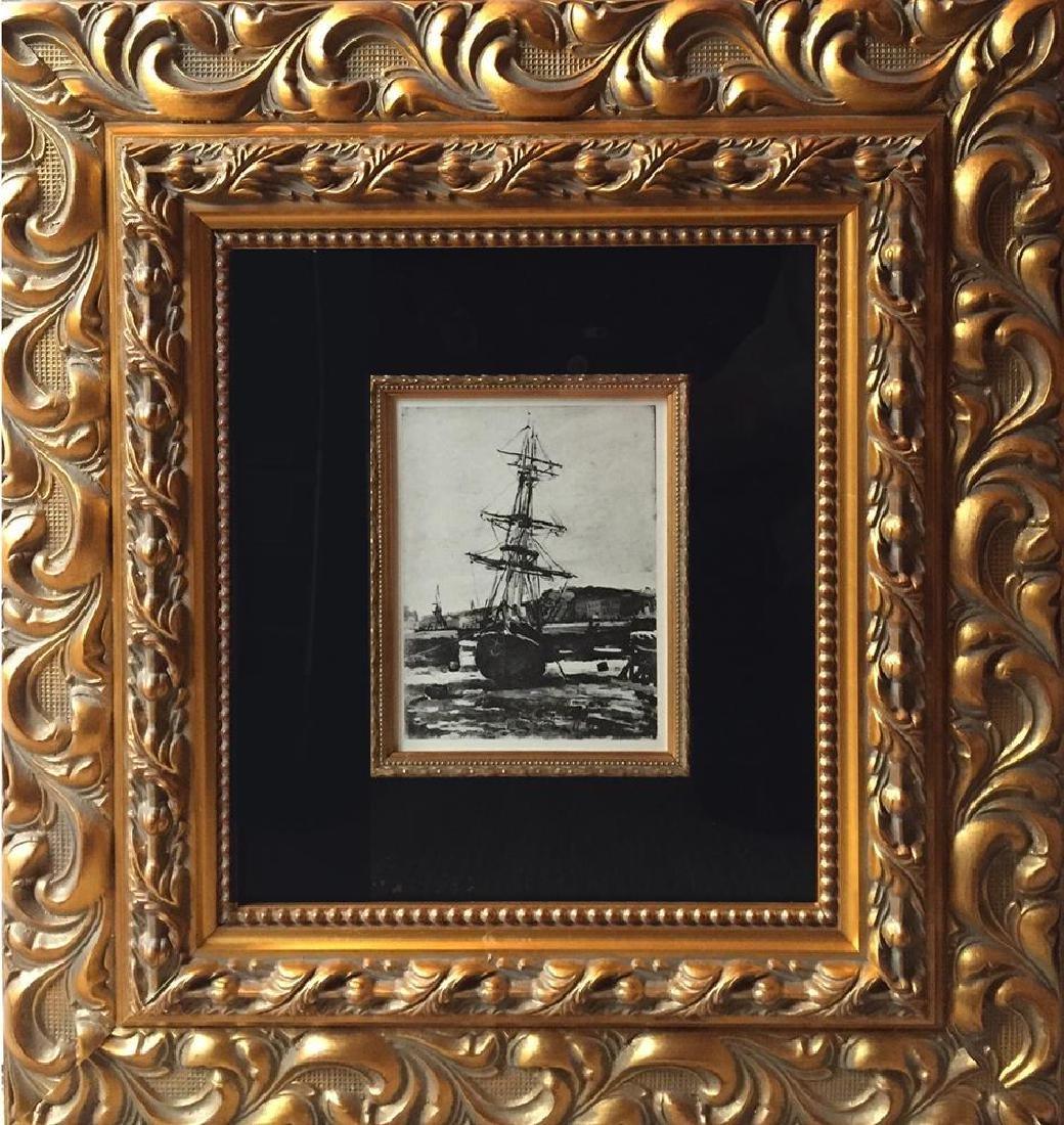 Claude Monet c.1924  Original Engraving RARE