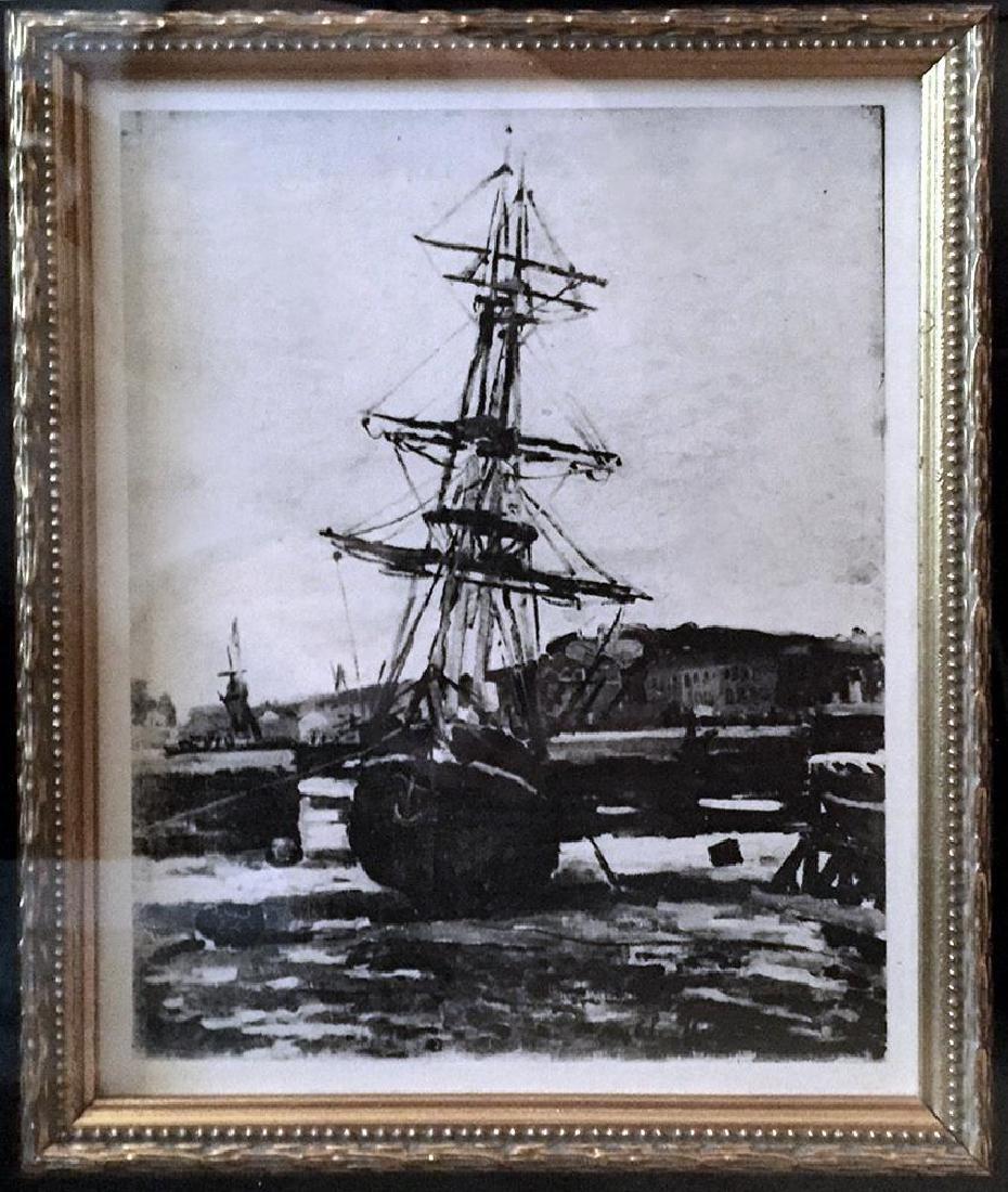 Claude Monet c.1924  Original Engraving RARE - 3