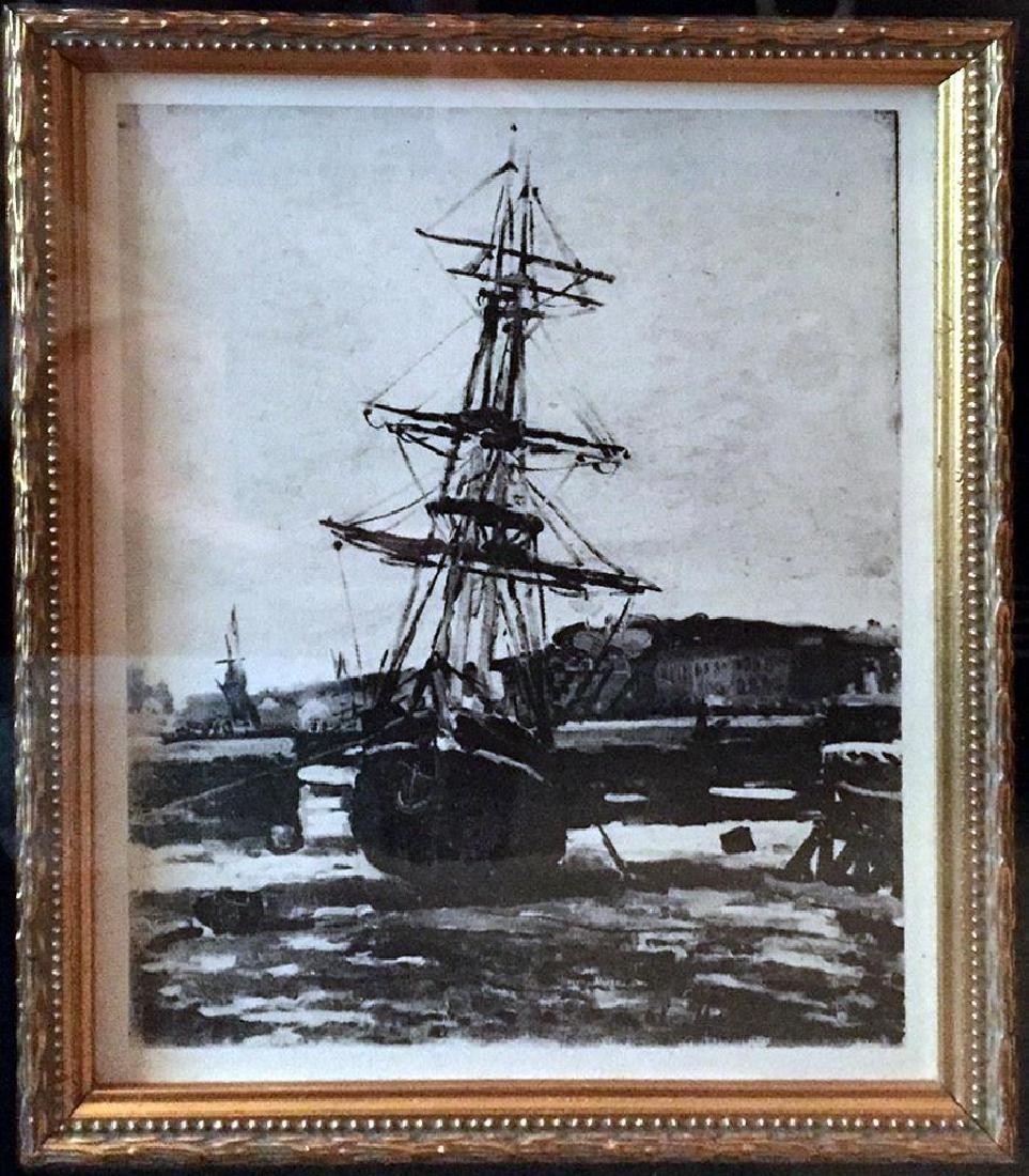 Claude Monet c.1924  Original Engraving RARE - 4