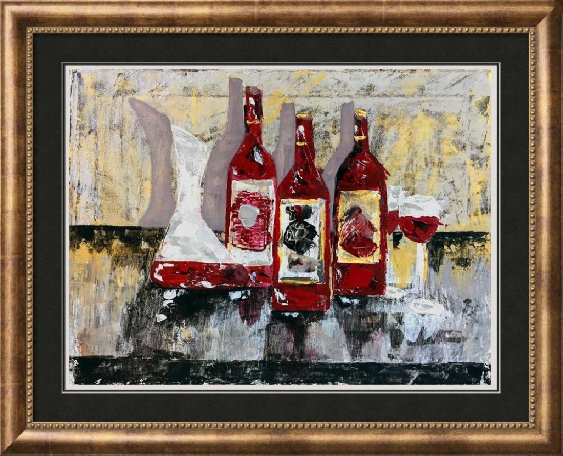 Original Painting on Canvas Wine Themed Landscape