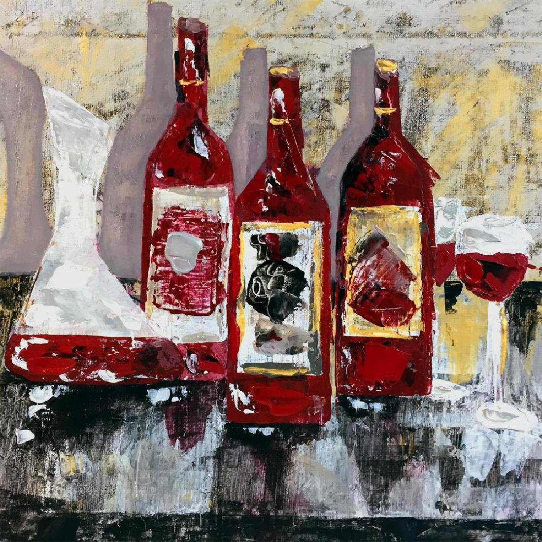 Original Painting on Canvas Wine Themed Landscape - 3