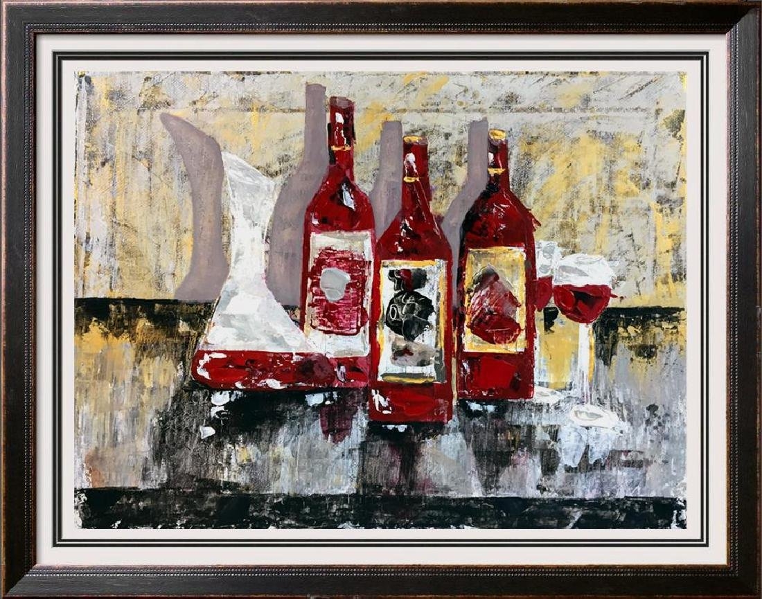 Original Painting on Canvas Wine Themed Landscape - 4