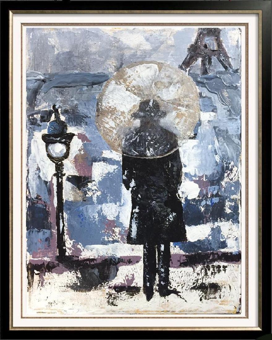 Evening in Paris Textured Original Acrylic Palette