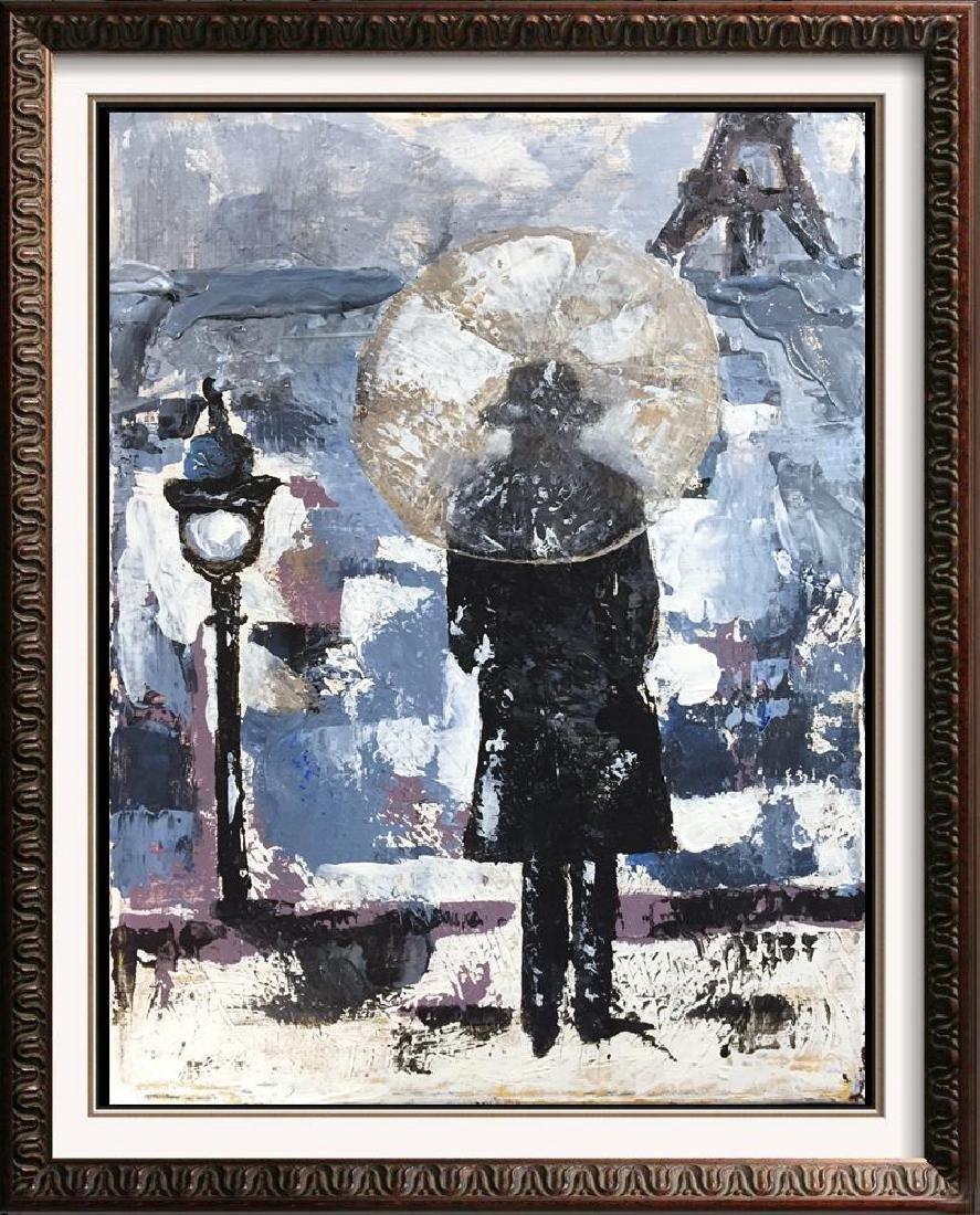 Evening in Paris Textured Original Acrylic Palette - 4