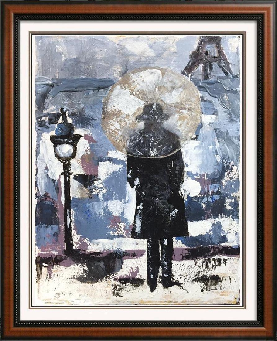 Evening in Paris Textured Original Acrylic Palette - 5