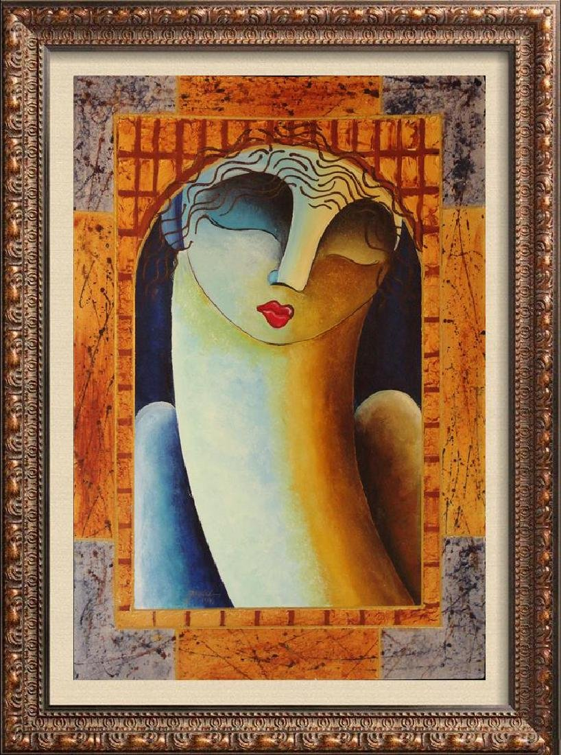 Woman Figure Modern Earth Tone Contemporary Modern