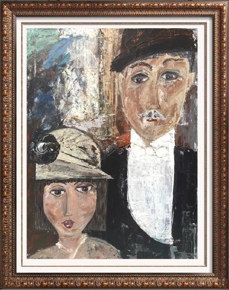 1920 style New Years Eve Original Acrylic Painting