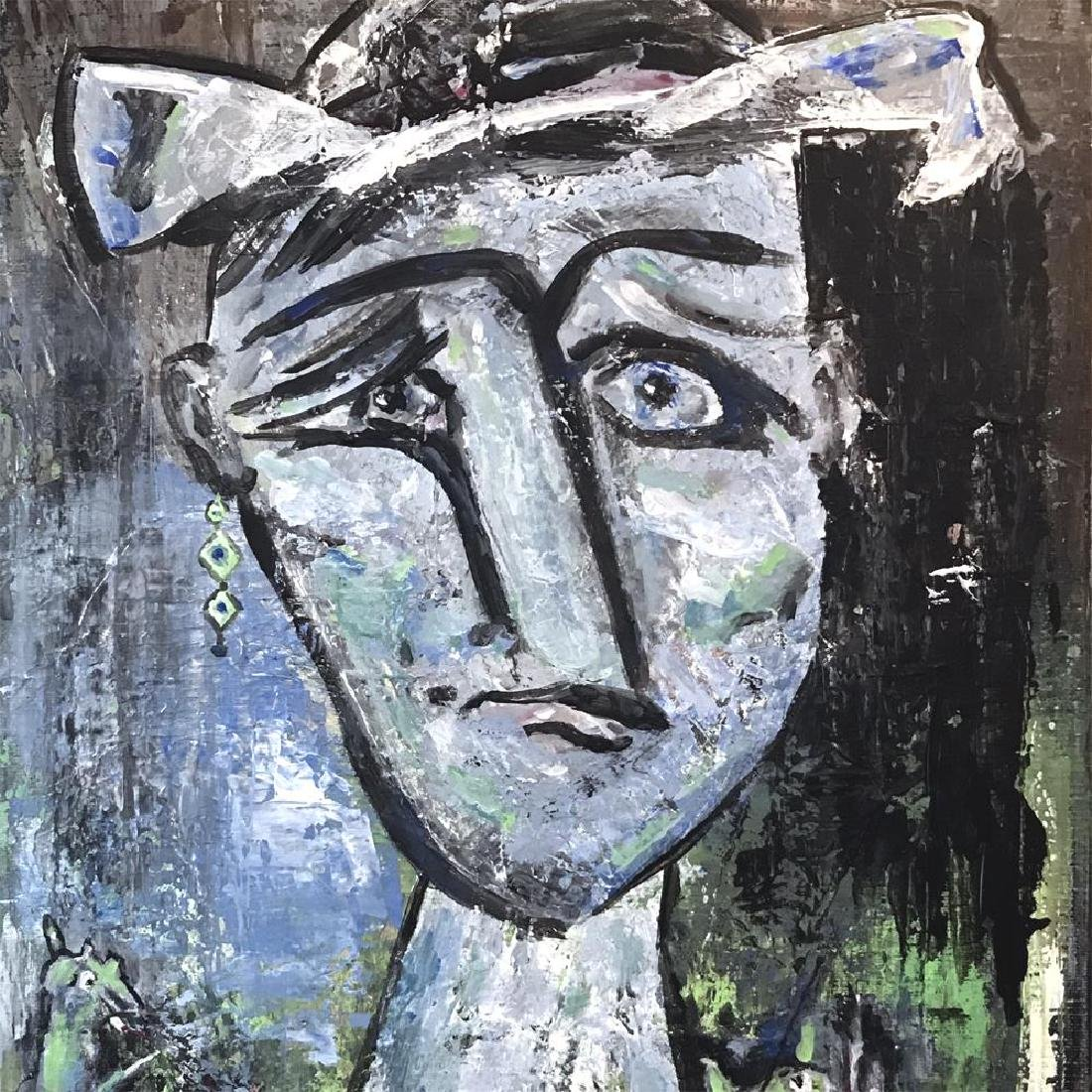 Blue Figure Abstract Painting on Canvas Swahn - 4