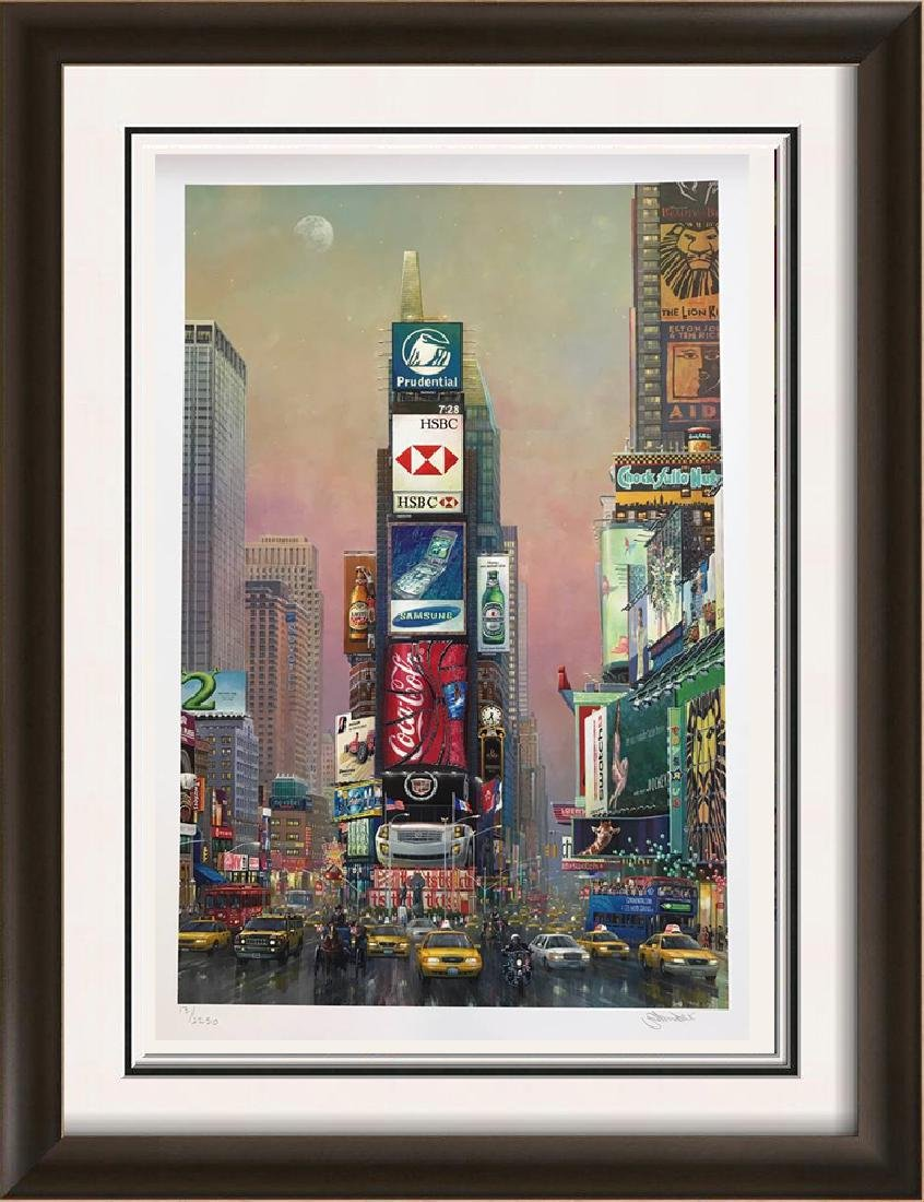 New York Times Square Pop Art Signed Ltd Ed