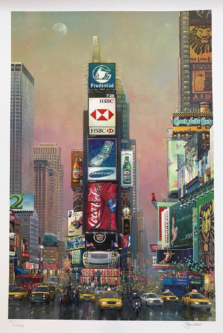 New York Times Square Pop Art Signed Ltd Ed - 2
