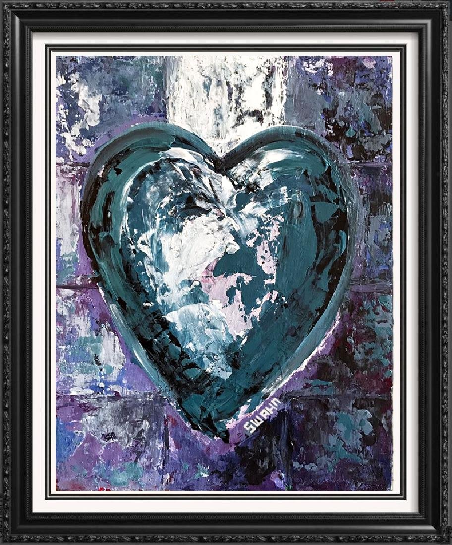 Swahn Heart Original Pop Painting on Board