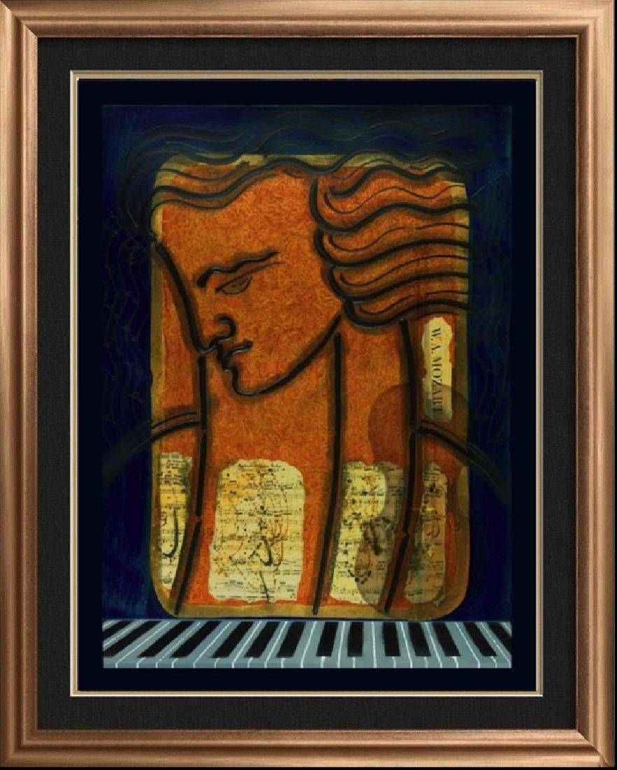 MOZART Hand Signed Original Painting CANVAS 24x20
