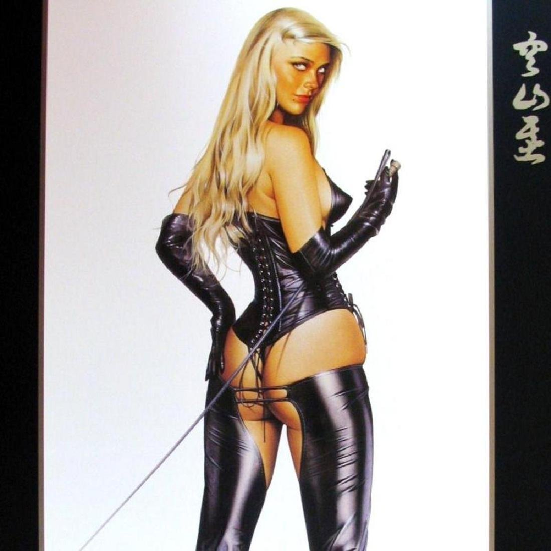 Sorayama Print Erotic Nude Black Leather Large - 3