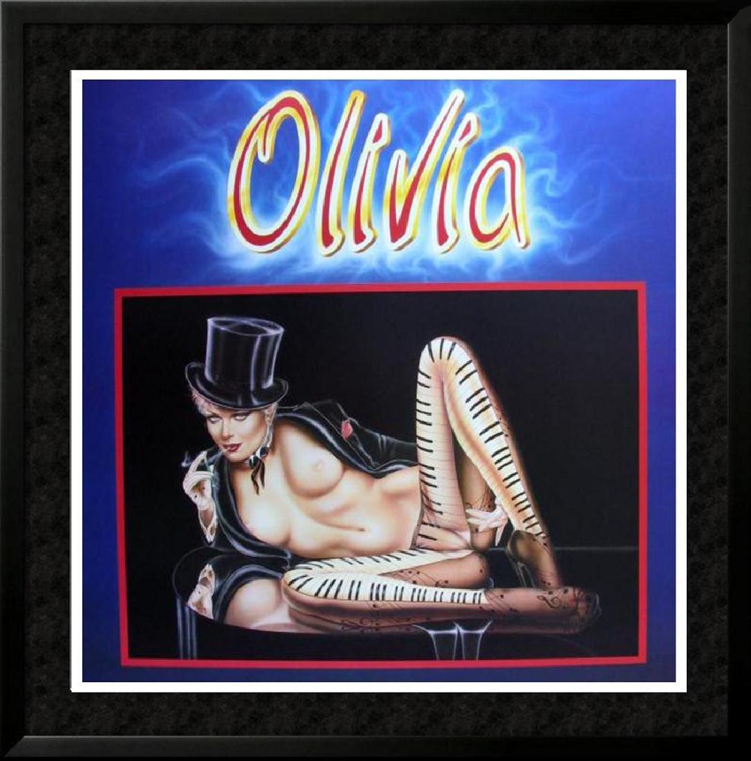 MUSICAL OLIVIA PIANO NUDE RARE FINE ART PRINT SALE