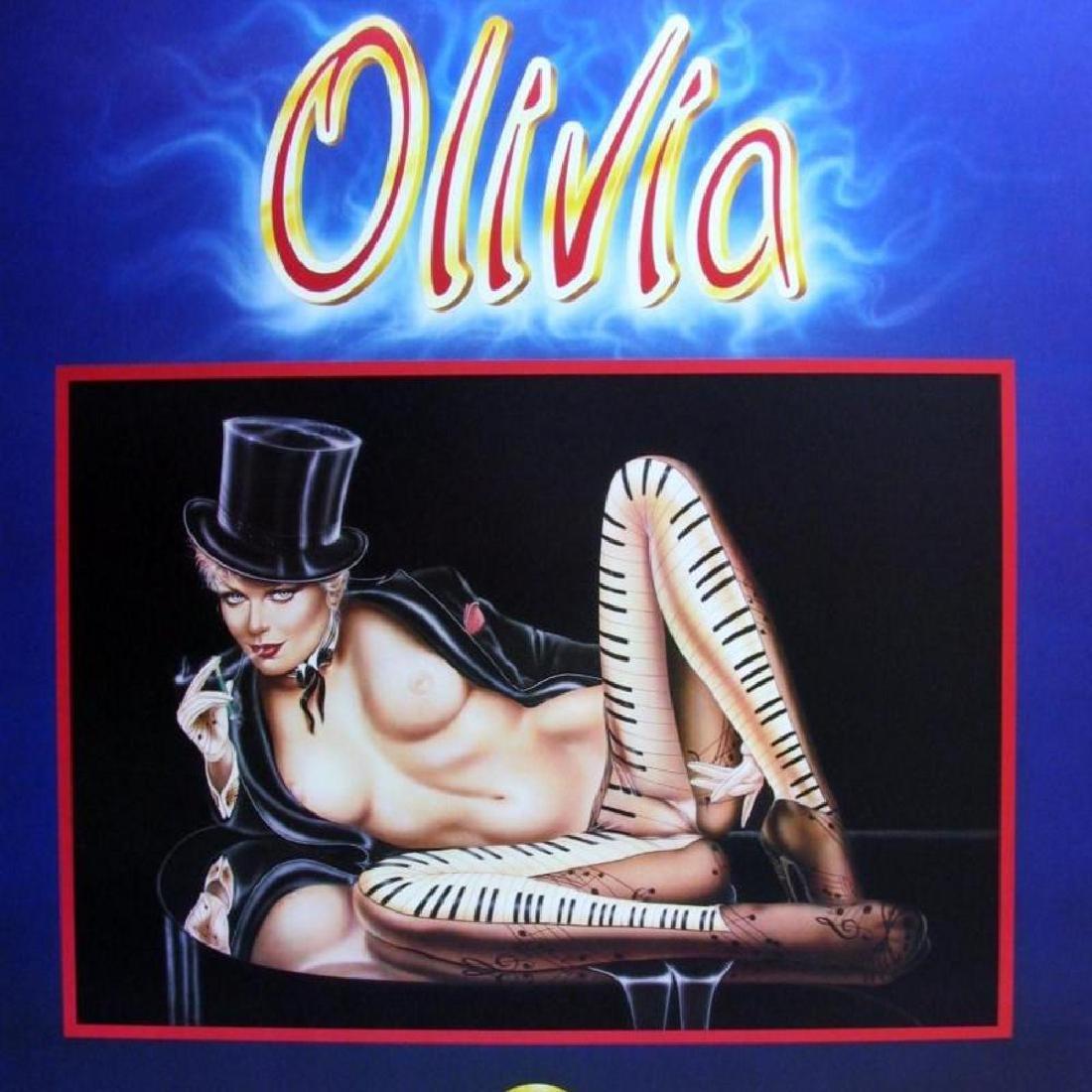 MUSICAL OLIVIA PIANO NUDE RARE FINE ART PRINT SALE - 3