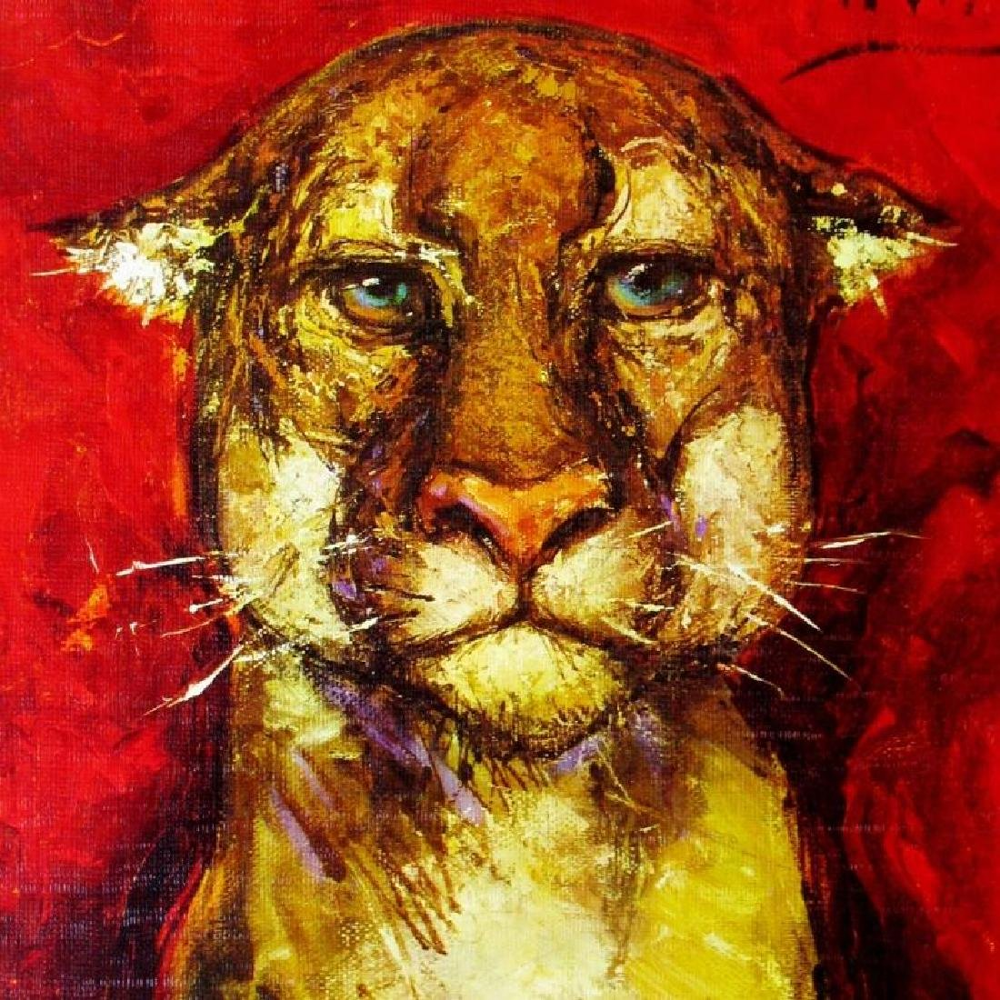 Lioness Lithograph Signed Colorful Art For Sale For - 2
