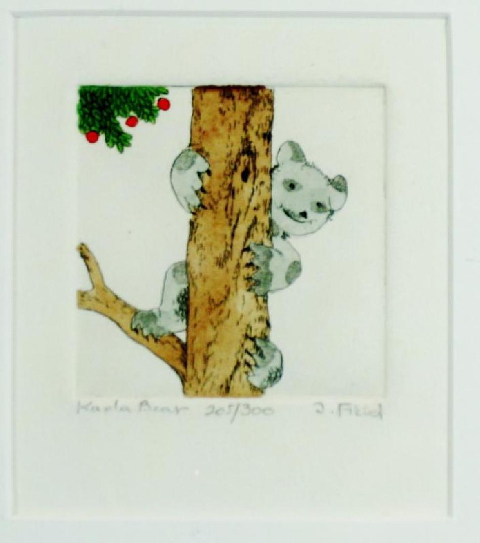 Koala Bear Signed Etching Ltd Ed Dealer Liquidation Art