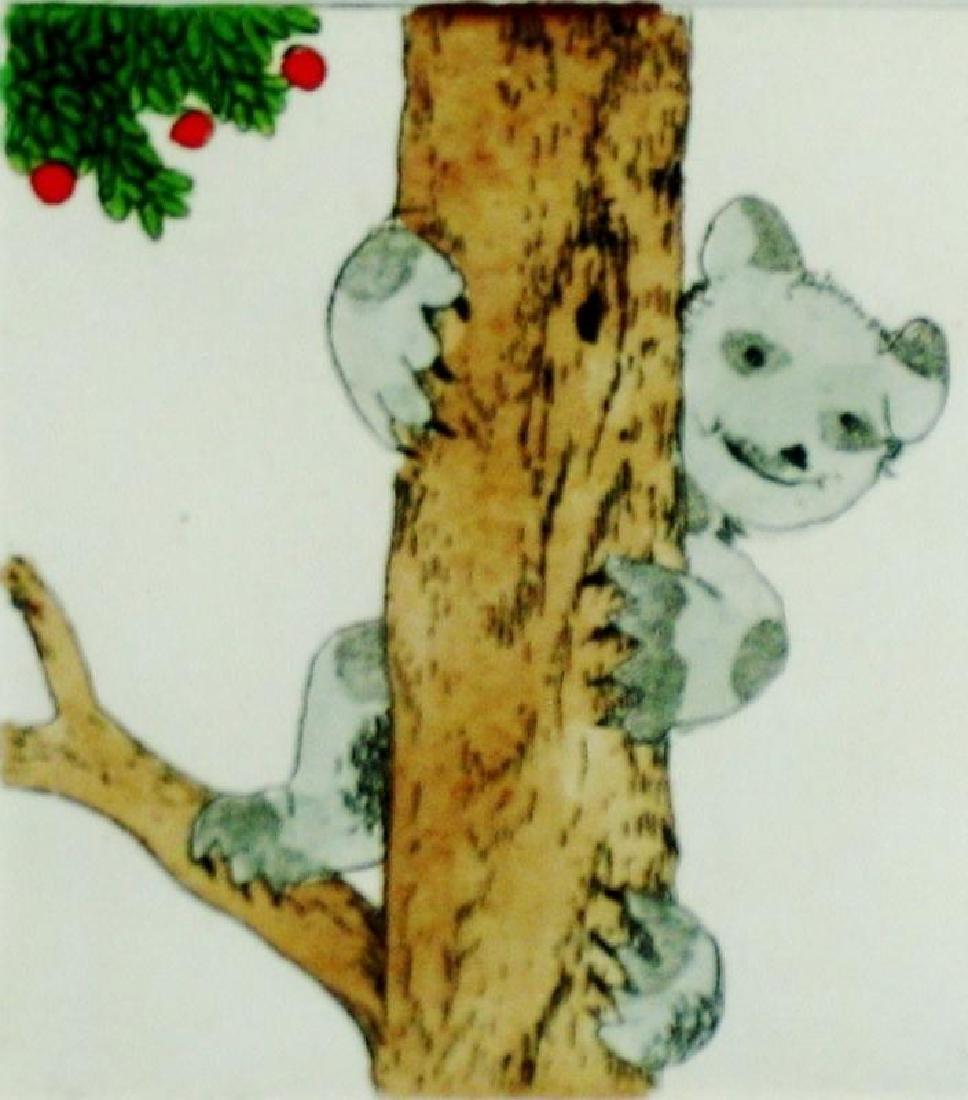 Koala Bear Signed Etching Ltd Ed Dealer Liquidation Art - 2