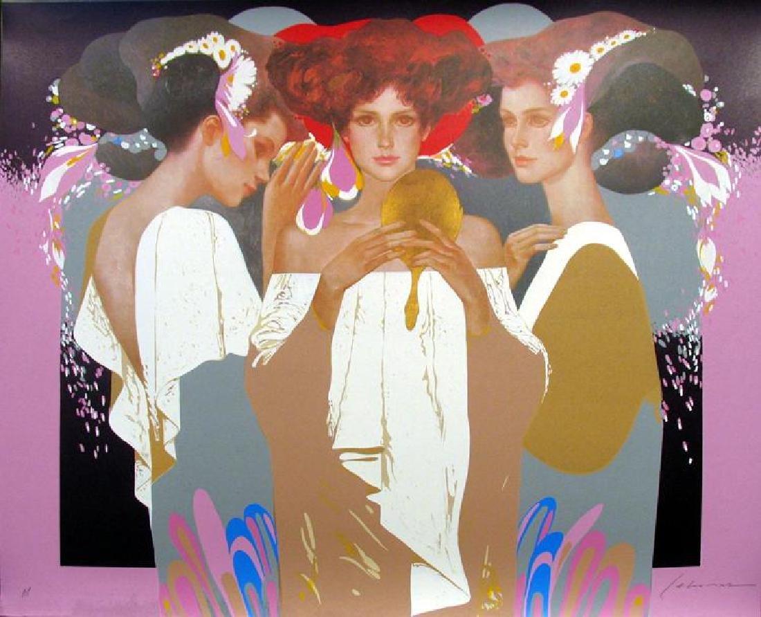 Felix Mas Gold Mirror Limited Edition Art Deco Earth - 2
