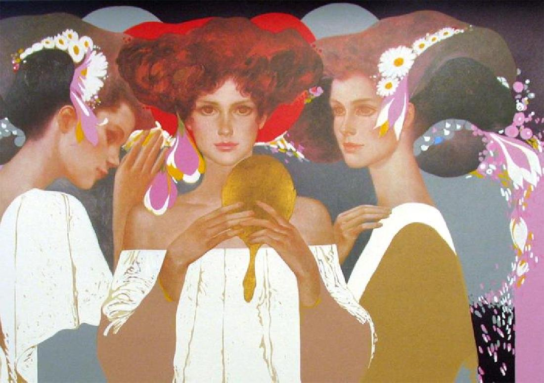Felix Mas Gold Mirror Limited Edition Art Deco Earth - 3