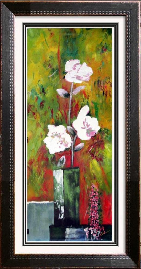 Fantastic Large Original Textured Floral Acrylic