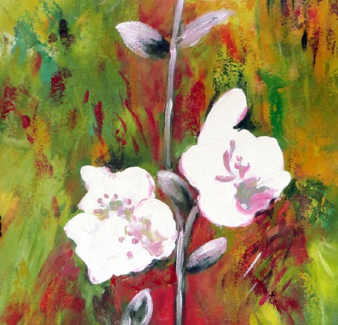 Fantastic Large Original Textured Floral Acrylic - 5
