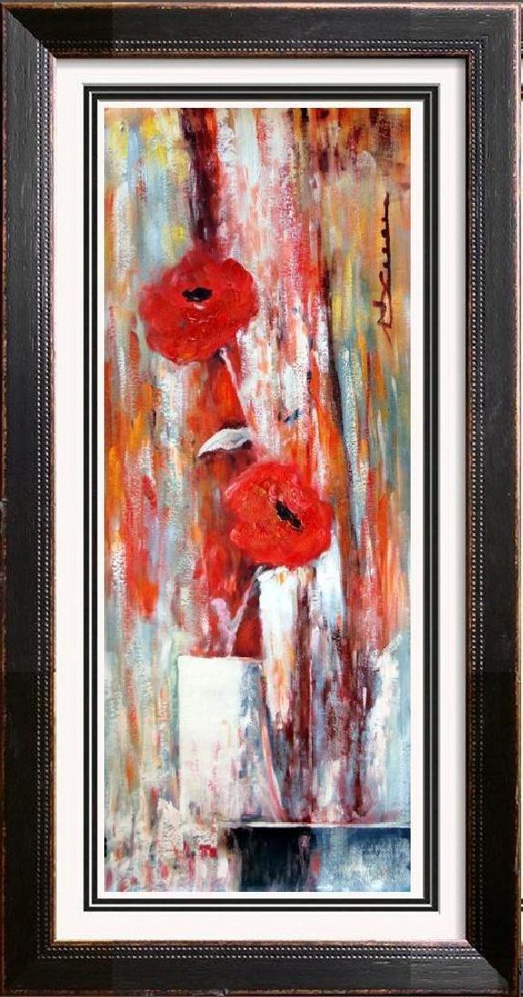 Floral in Vase Large Painting on Canvas Swahn Original