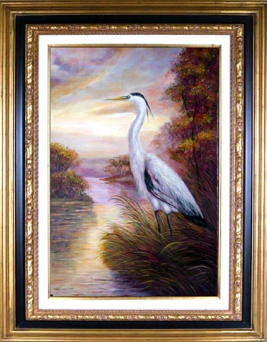 MP Elliott Fantastic Marsh Egret Realism Colorful