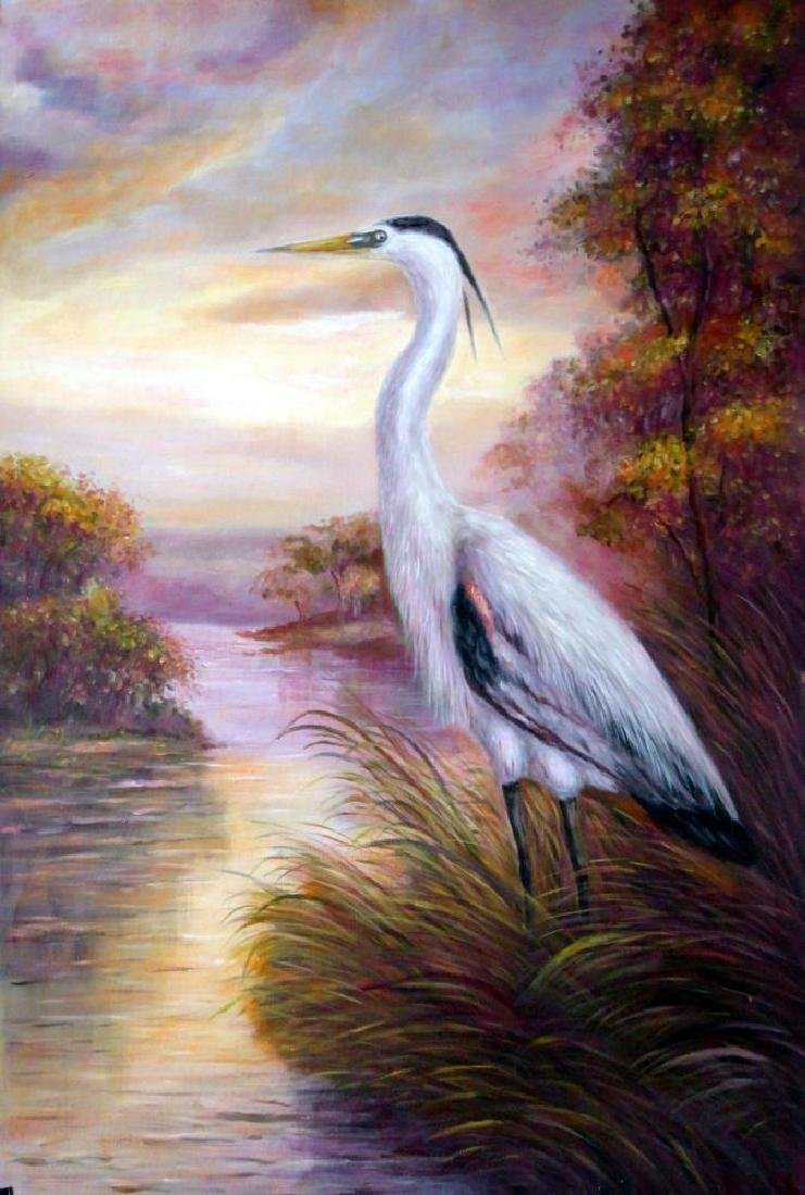 MP Elliott Fantastic Marsh Egret Realism Colorful - 2