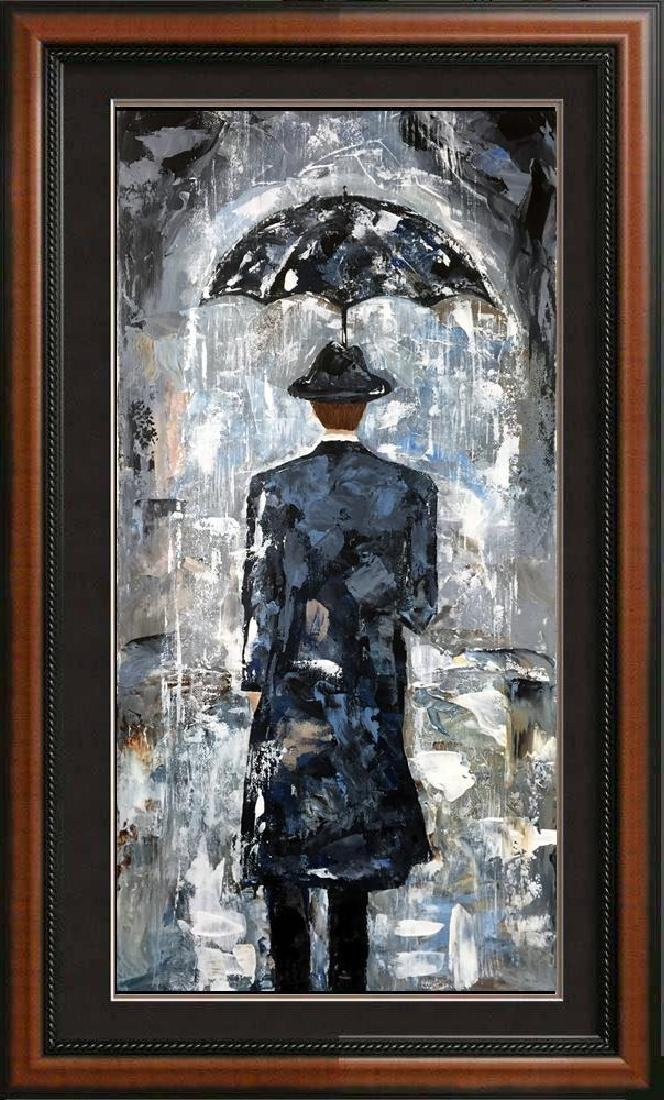 Rain Man Textured 24x12 Acrylic on Canvas Textured