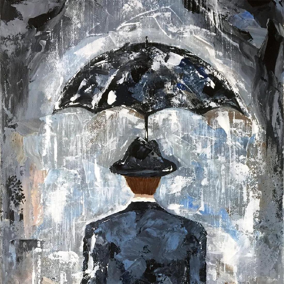 Rain Man Textured 24x12 Acrylic on Canvas Textured - 3
