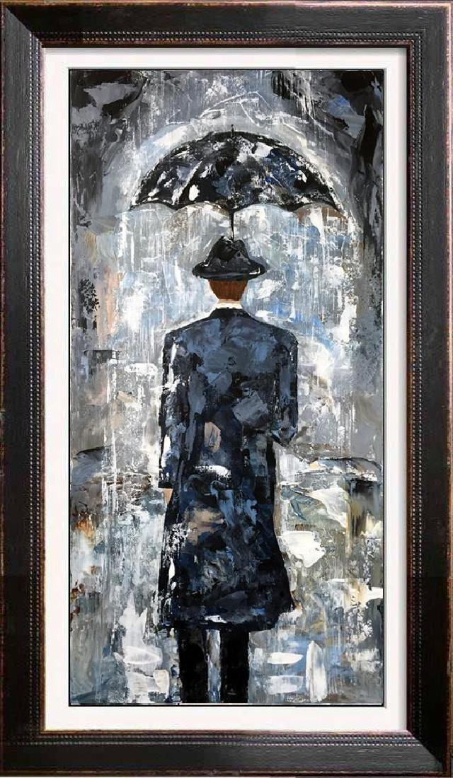 Rain Man Textured 24x12 Acrylic on Canvas Textured - 5