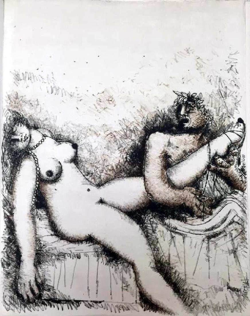 Federico Richi Plate Twelve The Art of Love c.1970 - 2