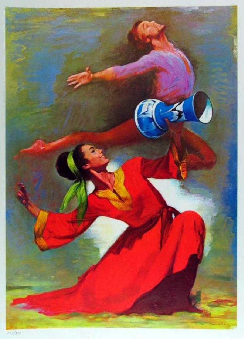 Dancers Lieberman Colorful Limited Edition Art - 2