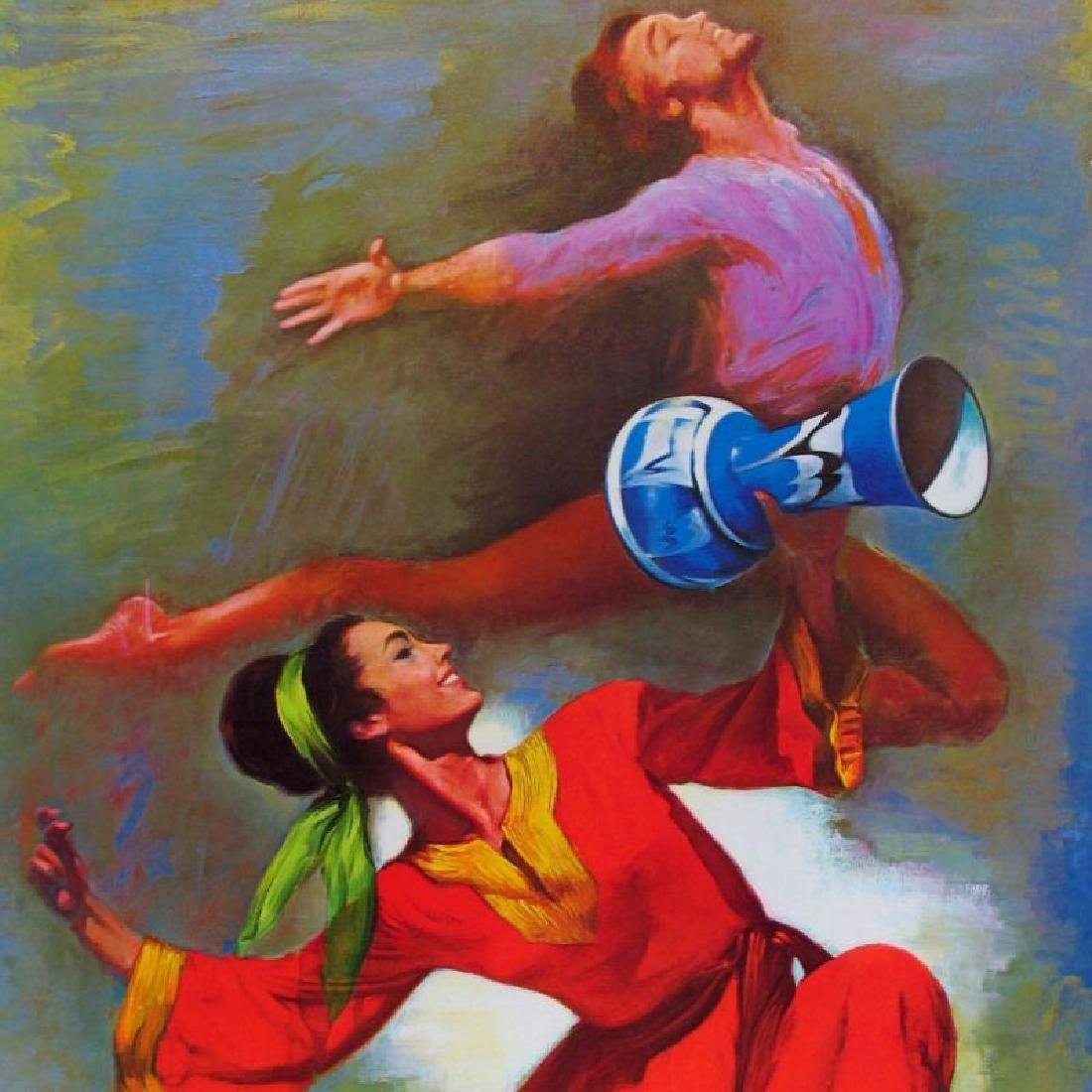 Dancers Lieberman Colorful Limited Edition Art - 3