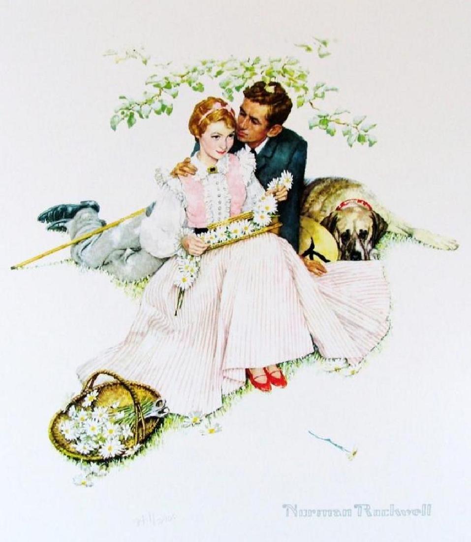 Norman Rockwell Vintage Plate Signed Lithograph Dealer - 2