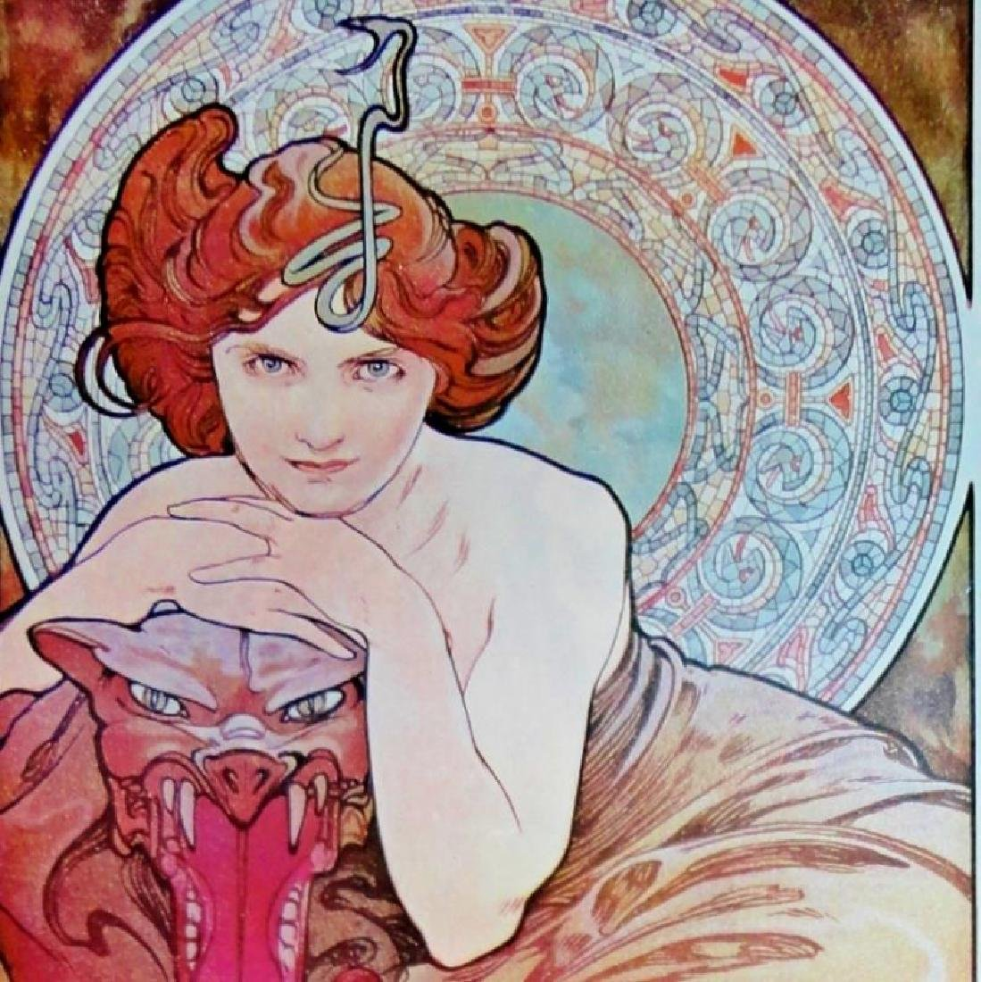 3 Large Mucha Repro Antique Poster Art Prints 48X18 - 6