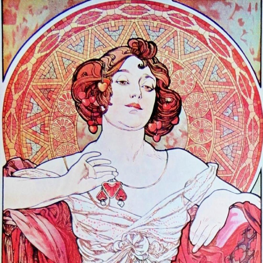 3 Large Mucha Repro Antique Poster Art Prints 48X18 - 7