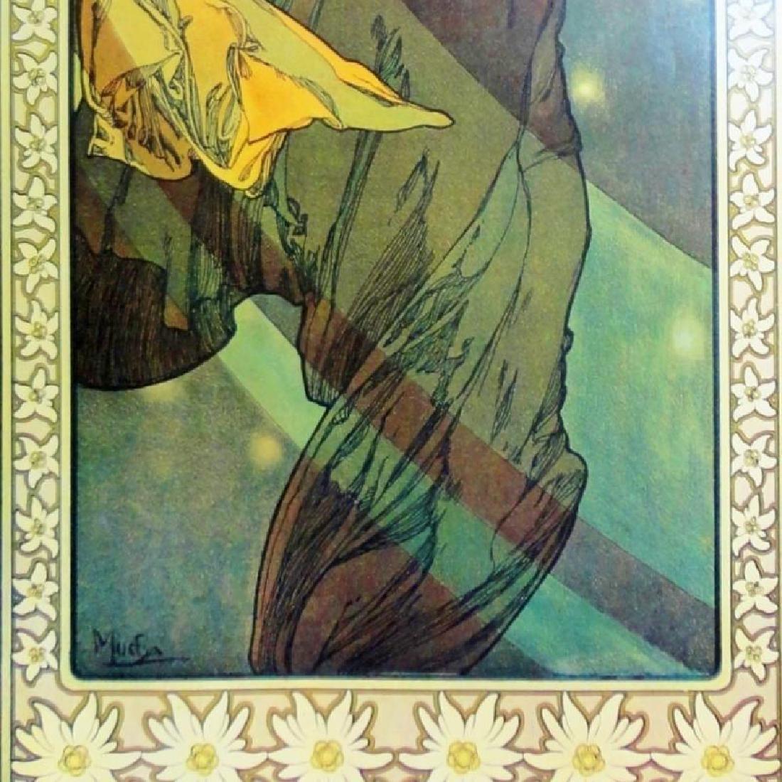 3 Large Mucha Repro Antique Poster Art Prints 48X18 - 8