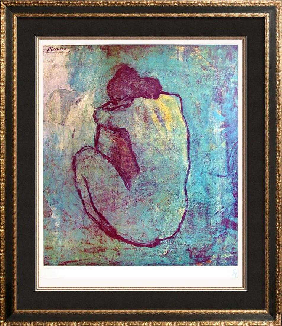 1983 Poster Picasso The Blue Nude Seated 1902, Plate