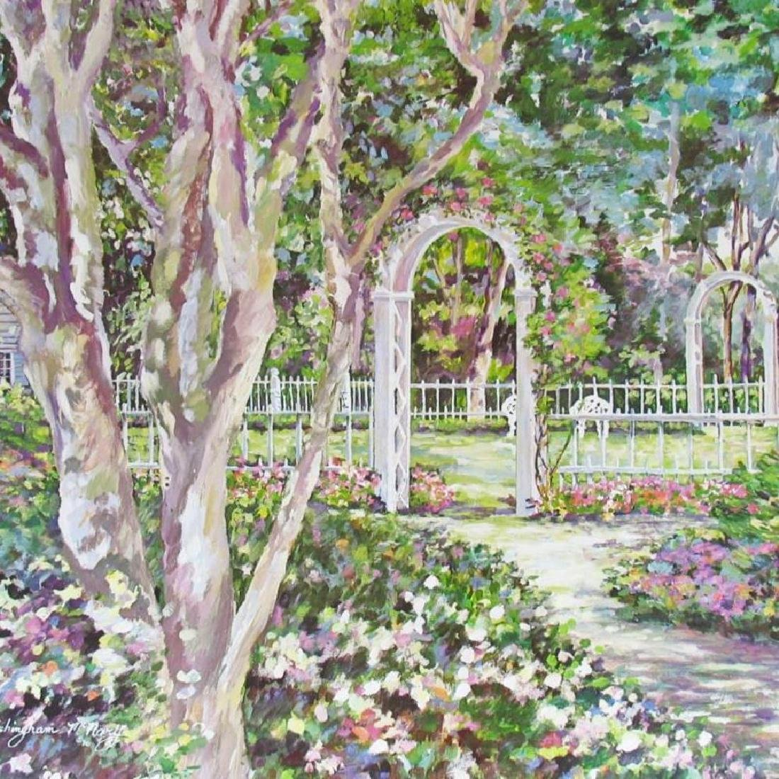 Sue Tushingham Mcmary Garden Arbors Pencil Signed - 3