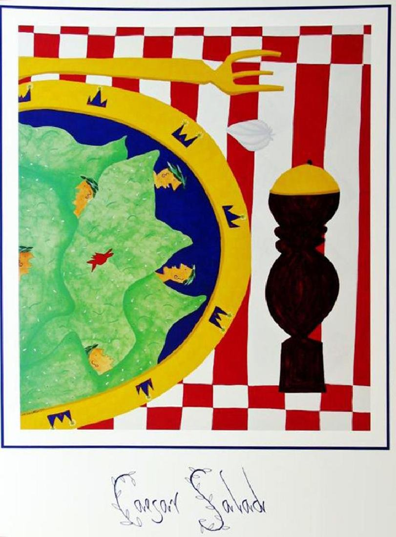 1998 Caesar Salad Hubbard Abstract Pop Whimsical Food