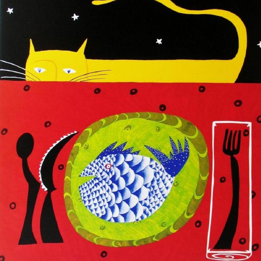 1998 See Food Platter Hubbard Abstract Pop Whimsical - 2