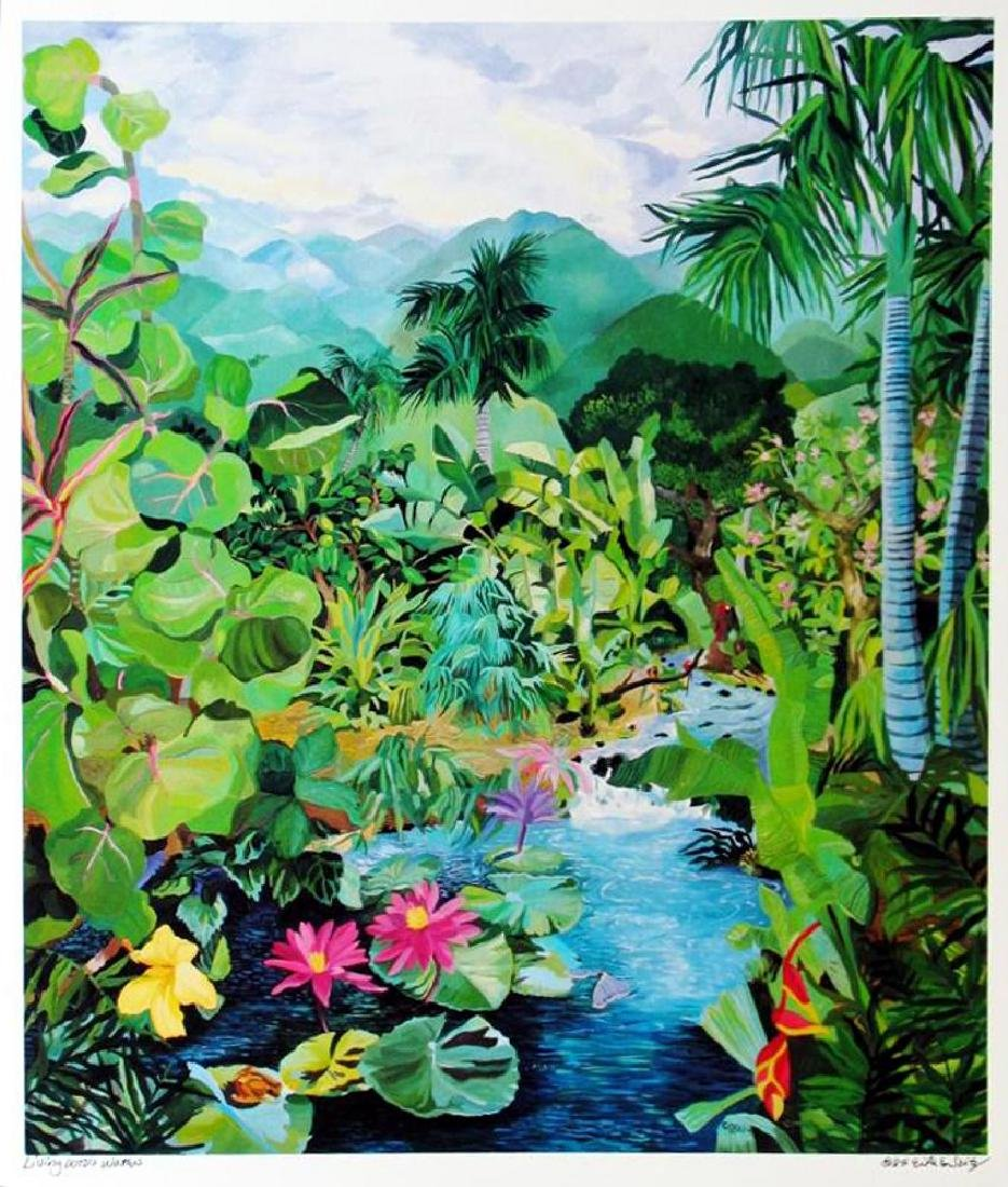 Hand Signed Tropical 1987 Eileen Seitz Jennifer - 2