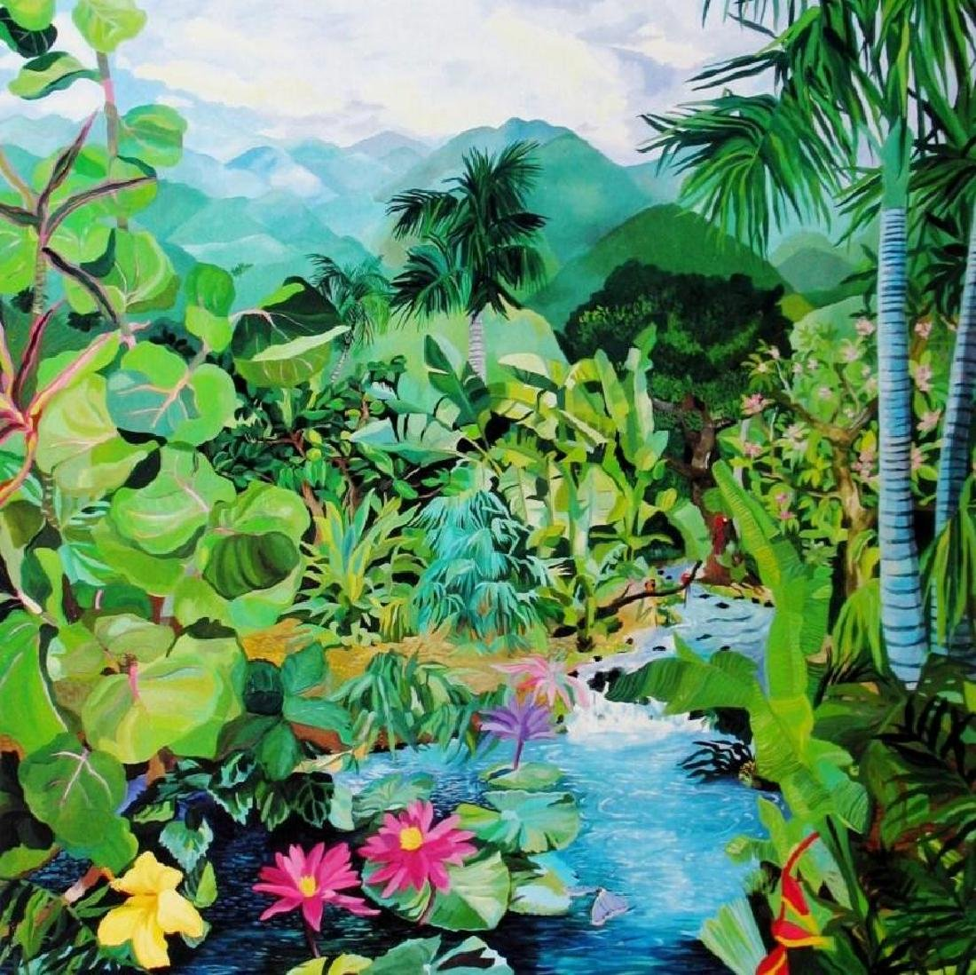 Hand Signed Tropical 1987 Eileen Seitz Jennifer - 3