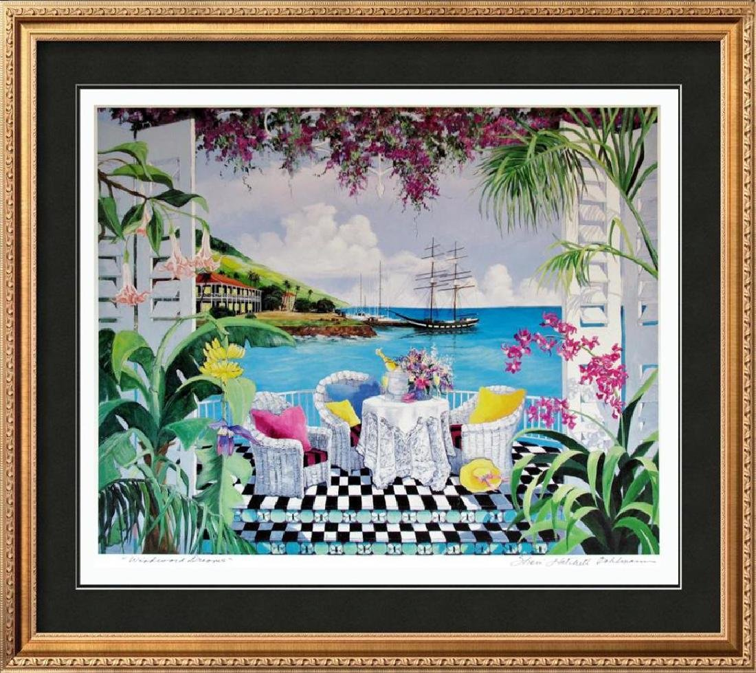Shari Hatchett Bohemann Signed Tropical View Colorful
