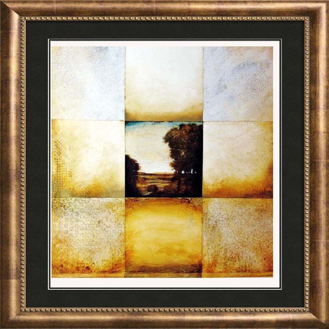 Abstract Landscape Geometric Earth Tone 1998 Printed In